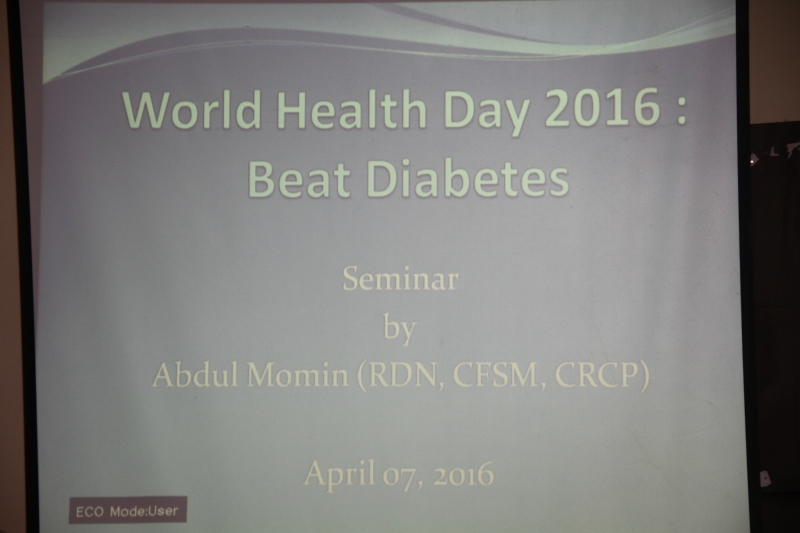 WORLD HEALTH DAY 2016 BEAT DIABETES