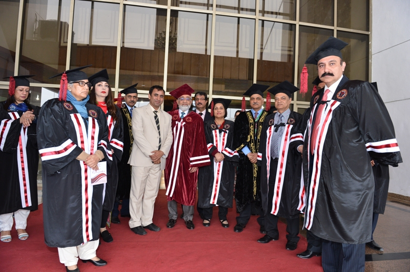 Chairman IHMS Dr. Muhammad Usman Khan with Worthy Vice Chancellor SZABMU Prof. Dr. Javed Akram